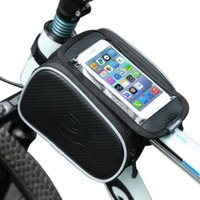 Cell Phone Mounts & Holders Portable Bag For Mountain Bike Or Off-road Vehicle, Front Pipe Jacking, Mobile Touch Screen, Bicycle Accessories