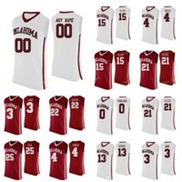NCAA College Oklahoma рано баскетбол Джерси 11 De'vion Harmon Young 12 Austin Reviews 13 Гаранс 14 Тай Лазенби на заказ