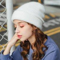 Beanie Skull Caps Beanie Hat For Women Winter Knitted Fur Skullies Warm Bonnet Cap Female Hats Girl