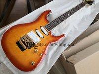 Custom 6 string electric guitar,pens guitar,light brown flamed maple veneer,ssh white pickups,floyd rose tremolo bridge