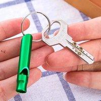 Keychain 키 링 야외 생존 비상 사태 탐험 Rre10582와 함께 훈련을위한 뉴미 니 알루미늄 휘파람 개