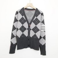 819 2021 Autumn Women Sweater Brand Same Style Sweaters Regular Long Sleeve V Neck Gray Long Cardigan Gray Women Clothes niu