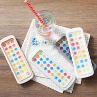 Ледяные кубики кухонные инструменты для подносой плесенью домохозяйство бытовой пищевой силикон маленький творческий творческий творческий творческий моделирование мини-хоккея