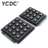 3x4 4x4 teclas chave de controle matriz matriz 12/16 teclado teclado módulo 16-botões board arduino sinal de programa LED módulos