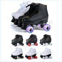 Двойные линии роликовых коньков женщин мужские коньки обувь для взрослых кроссовки для взрослой коровьи коровьи флэш-колесо штрафов шт.
