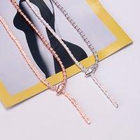 جديد وصول الفاخرة أزياء سيدة النحاس كامل الماس الأفعى serpenti 18 كيلو مطلي الذهب snakelike ضيق القلائد المختنقون 2 اللون