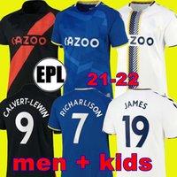 21 22 JAMES Everton camisa de futebol preta CALVERT-LEWIN CALVERT LEWIN RICHARLISON ALLAN DIGNE DOUCOURE 2021 2022 NKOUNKOU BERNARD conjunto masculino + kit infantil