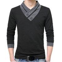 Roupas de inverno L0324 T-shirt manga longa tshirt t-shirt para mens camiseta plus tamanho algodão outono liseaven homens tops