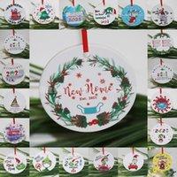 Grinch Cuarentena Ornamento Navidad Colgante Colgante Colgante Sublimación En blanco Personalice para Decoración de árboles con máscara Designer 2021 DHL Ship FY4832