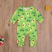 Born Baby Clothes Boy Girl Romper Cute Fruit Print Long Sleeve Round Neck Cotton Jumpsuit One-Piece Outfit Playsuit Jumpsuits