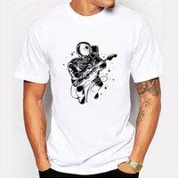 T-shirt da uomo estivo streetwear cool top vestiti maschile stampa astronauti a maniche corte o-collo divertente grafico tee