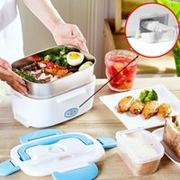 Electric Heating Lunch Box 2 Layers Portable Bento Container MINI Rice Cooker Car Electronic food storage