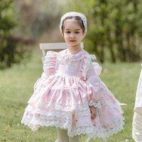 Vestidos de niña Cekcya Baby Girl Spanish Turkey Boutique Vestido Niñas para niños Lace Lolita Princess para la fiesta de la fiesta de la fiesta de cumpleaños