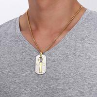 Model Çıkarılabilir Ankh Kolye Kolye Çelik Yaşam Çapraz Mısır Erkekler Takı Altın Renk Nil 575 T2 Anahtarı