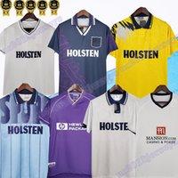 Amarelo 1991 1995 1998 08 Tott Terceira Camisas Retro Soccer Jersey Mabbutt Sheringham Hazard Jason Cundy 91 91 93 98 Camisa de Futebol Clássico