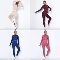 Seamless mesh yoga set womens leggings fitness clothing bra trousers suit women gym outdoor running sports Athletic wear o1OA#