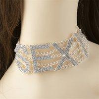 Strass Choker Halskette Luxus Mode Kristall Schmuck Sexy Word Cocker Bling Glamy Sparkly Damenschmuck Zubehör 1617 Q2