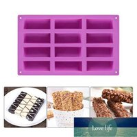 12 Grids Rectangle Cake Mold Chocolate Cookie Biscuits Bread Muffin Baking Silicone Mould Tray