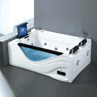 USA Indoor washing machine hot tub spa massage double whirlpool bathtub Soaking, Heating, LED, Display, LCD TV