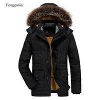 Men's Down Parkas 2021 Giacca invernale Fleece Foderato Parka Cappotto con cappuccio Frescabile caldo Casual Plus Size
