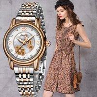 Наручные часы Sunkta Rose Gold Часы Женщины Хрустальные Украшения Роскошные Кварцевые Женские Запястья Девушка Часы Дамы Relogio Feminino + Box