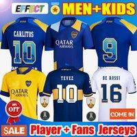 Oyuncu Hayranları Sürüm 21 22 Boca Juniors Futbol Forması Carlitos Maradona Tevez De Rossi 2021 Üçüncü Ev Uzakta 3rd 4th Tayland Futbol Gömlek Erkekler ve Çocuklar Üniforma Setleri