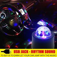 Новая крутая автомобиль неоновая сфера звуковая музыка DJ мигающий световой автомобиль кристалл волшебный плазменный шар автоматический ритм лазерный проектор этап света
