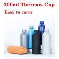 500ml Insulated Tumbler Sports Bottle 304 Stainless Steel Thermos Cup Small Mouth Kettle Christmas Gift For Friend