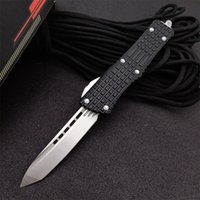 newest micro-tech Single-Edge AUTO OPEN knife Automatic Tactical knife D2 blade T6-6061 aluminum alloy handle camping outdoor EDC tool Pocket UTX BM Kinves