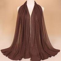 2021 Шифон мода джокер сплошной цвет шарф высококачественные пляжные полотенца национальные ветер длинные шарфы для женщин обертывают шаль столь 42