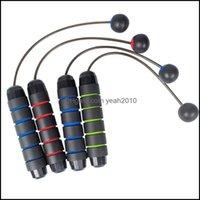 Оборудование для прыжков поставляет спортивные насылки NewsoStjump Ropes Loogdeel стальная проволока беспроводной шарик пропустить веревку фитнес обучение