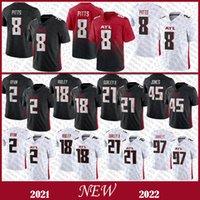 8 Kyle Pitts 2 Matt Ryan Mens Football Jersey 97 Grady Jarrett 45 Deion Jones 21 Todd Gurley II 18 Ridley Stitched Jerseys 고품질 재고