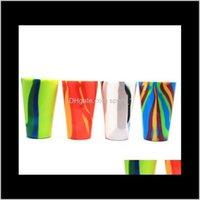 Gläser Küche Essbar-Bar-Hausgarten-Drop-Lieferung 2021 4 Farben 450ml Camouflage Rotweinbecher Glas zusammenklappbare Sile Bier Tasse Drinkware C