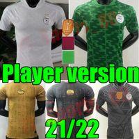 Versão do jogador Algerie 2021 Home Away Jerseys de futebol Mahrez Bennacer Atal 20 21 Argélia Kits de Futebol Camisa Men + Kids Conjuntos Maillot de pé