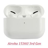 A + Air Air Pods Pro 3RD GEN GEN AP3 TWS سماعات AIROHA 1536U H1 رقاقة مع مربع شحن إعادة تسمية GPS سماعات بلوتوث لاسلكية 3 جيل سماعات الأذن
