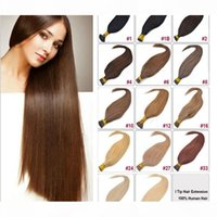 """16""""-24"""" tangle-free I tip Hair Extensions Human platinum blonde Pre-bonded Keratin Hair 0.5g s 100s pack I tip extitions"""