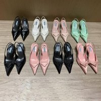 2021 Top Designer Frauen High Heel Sandalen Frau Slides Hausschuhe Mode Sommer Damen Büro Party Kleid Sandale Logo Box Größe 35-40