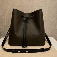 여자를위한 정품 PU 가죽 크로스 바디 가방 어깨 패션 간단한 휴대용 레저 양동이 가방