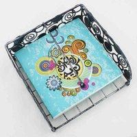 Moon Colorful Print Islamic Mese Tovaglioli Tessuto facciale 33 * 33cm Ramadan Kareem carta tovagliolo di carta per musulmano Eid al-fitr decor BC BH1412