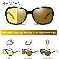 Benzen Luxury Photochromic Sonnenbrille Frauen Tag Nachtsicht Dame Polarisierte Sonnenbrille Weibliche Farbtöne Oculos