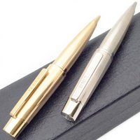 PURE PEARL 8 Styles top Quality hypertrophy Ballpoint Pen Classic Luxury Metal wiredrawing Golden Silver barrel smooth writing Stationery+Gift Refills+Plush Pouch