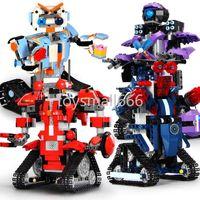 Juguetes de alta tecnología Control de aplicaciones Robot Botas compatibles Creative Toolbox Conjunto Programación AimBot Kids Toys Bloques de construcción FY4537-FY4540