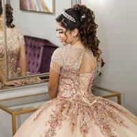 Stunning vestidos de 15 años 2020 Scoop Neck Tassel Beaded Quinceanera Dresses Applique Keyhole Back Ball sweet 16 Prom Gowns