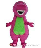 2018 Hohe Qualität Barney Dinosaurier Maskottchen Kostüme Halloween Cartoon Erwachsene Größe Fancy Kleid