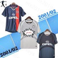 2001 2002 Paris Ronaldinho Retro Jersey de fútbol Anelka Okocha Heinze Pochettino Arteta Aloisio 01 02 Camisa de fútbol vintage clásica
