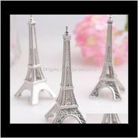 Autres événements Festive Party Fournitures Home Garden Drop Livraison 2021 100 PCS / Lot Mean Mariage Favorise Tour Eiffel Place Porte-cartes En gros FedEx