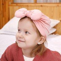 Bonito 1 PCS Recém-nascido Criança Criança Dobra Nó Curva Turbante Chapéu Indiano Bebê Crianças Flor Beanie Caps Headwear Acessórios de Cabelo 1932 Z2
