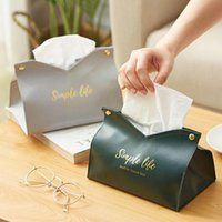 Tissue Boxes & Napkins Simple Box Container Leather Retro Toilet Table Papers Holder Car Towel Bag Pouch Decor Paper
