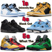 2021 최고 농구 신발 1 1S University Blue 5 5S Bluebird 어두운 모카 UNC 특허 Brd Hyper Royal Men Women Sneakers