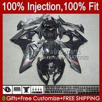 Injection Mold Fairings For BMW S-1000RR Matte black S 1000RR 1000 RR S1000-RR 09-14 19No.8 S1000RR 09 10 11 12 13 14 S1000 RR 2009 2010 2011 2012 2013 2014 OEM Bodys Kit